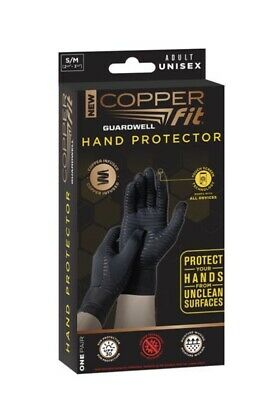 Copper Fit GuardWell Hand Protector Gloves Size Small/Medium One Pair NIB