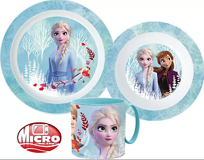 FROZEN  Kids 3 pcs Dinner Set Plate Bowl Mug New