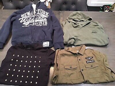 Boys Clothing Job Lot Bundle Size 12-13 Years 7 Items High St Branded hoodies