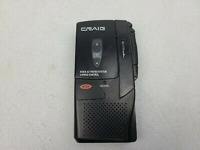 Craig CR8003 VOX Voice Activated Micro Cassette Tape Recorder Micro Cassette