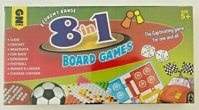 8 in 1 Classic Traditional Family Board Games Kids Childrens birthday Gift Toys