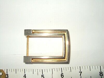 gold coloured metal buckle 2 1/2 by 1 1/2 inches
