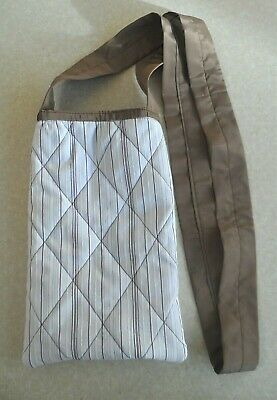 Syringe Driver Bags, Quilted for Comfort & Protection Brown/White, Brown silk