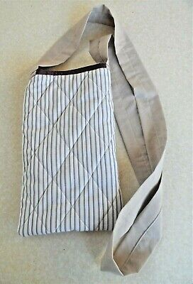 Syringe Driver Bags, Quilted for Comfort & Protection, Brown Stripes on White