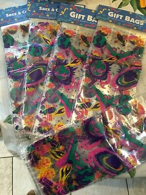 100 plus CELLO BAGS Candy Treat Party Gift Sweet Bags Patterned