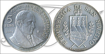 San Marino - Coins Eur IN Plate ~ Year: 2004 - Number KM00458 - Proof 5 ? Year