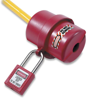 Rotating Electrical Plug Lockout Safety Accessories Device Universal Kit Red