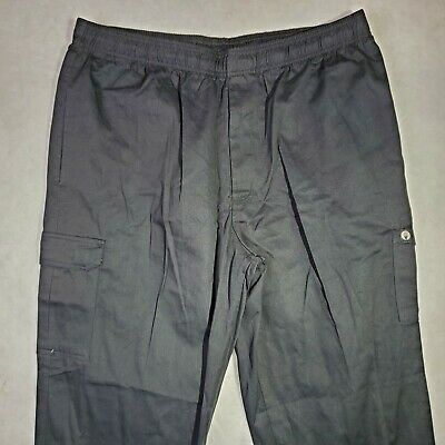 Chef Works Men's Size 2XL Professional Cargo Chef Pant Lightweight PC001-BLK