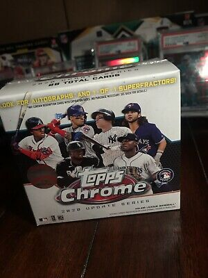 Topps chrome update series blaster box factory sealed 2020 baseball 🔥autos? 🔥