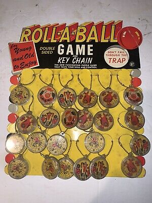 Original 1940s Advertising Sign With Key Chain Games