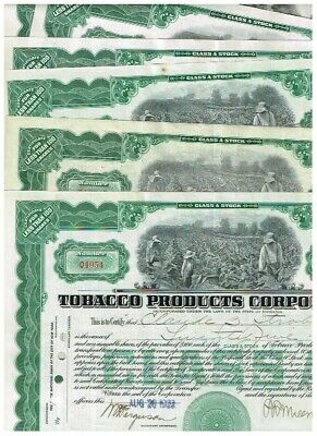 Set  7 Tobacco Products Corp., 1920s, VF-VF minus