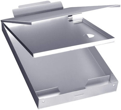 Metal Clipboard With Storage Box Letter Size Aluminum  Metal Binder Form Holder