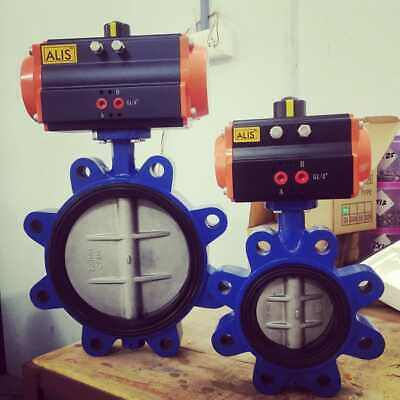 Dn50 Pneumatic Actuator Operated Lug Type Butterfly Valve