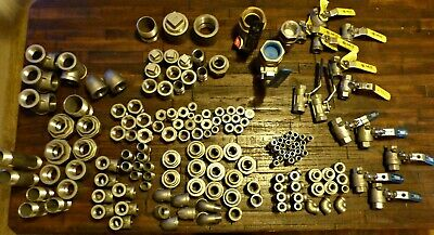 LOT of misc. VALVES and FITTINGS stainless steel NEW PIPE fittings