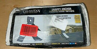 Guardian Fall Protection 00710 Snappy Disposable Anchor For Any Pitch Roof -25pk