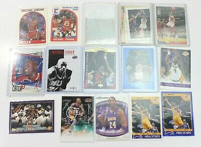 15 Card Lot  Kobe Bryant  Michael Jordan Basketball Early Hoops Bulls Lakers