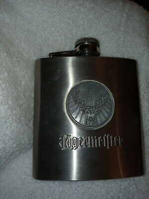 Jagermeister Flask 6oz Stainless Steel * Jager *