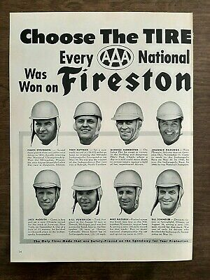 "Vtg 1953(2 Page)Print Ad For Firestone Tires-""Choose The Tire Of Champions."""