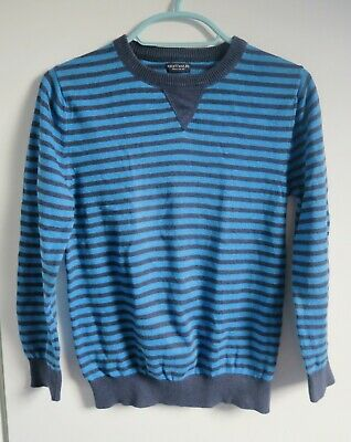 Next Boy's Blue Striped Jumper Age 9 years