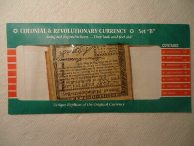 1778-1781 Colonial & Revolutionary Currency - Set B