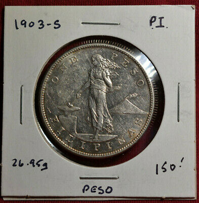 1903-S Philippines Peso, Silver, Good Condition - Very Nice Details