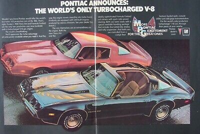 1980 Pontiac Trans AM & Formula Firebird Turbo 4.9 Original Print Ad 8.5 x 11""