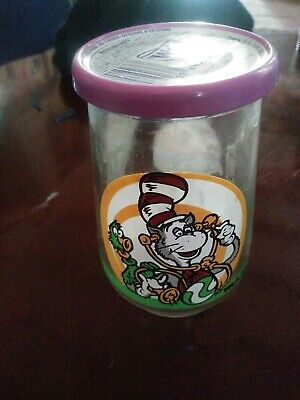 Vtg Welch's Grape Jelly Jar Glass Dr. Seuss The Cat In The Hat Zubble Wump Full