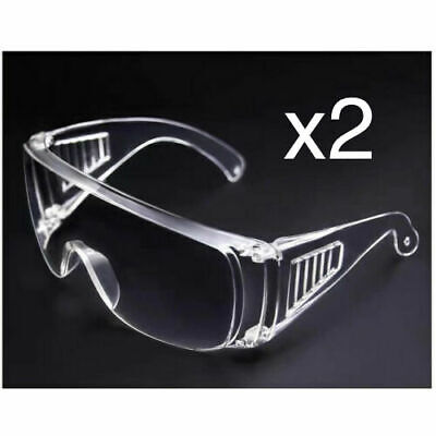 2 Clear Safety Anti Fog Goggles Glasses for Work Lab Outdoor Eye Protection US
