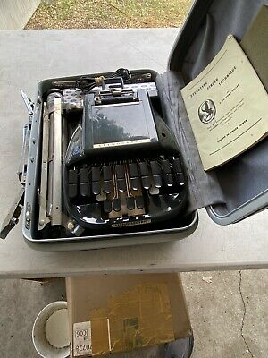 Stenograph Reporter Shorthand Machine with Case and Tripod