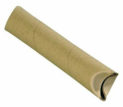 """BOX USA BS1509K Crimped End Mailing Tubes 1-1/2"""" x 9"""" Kraft Pack of 70"""
