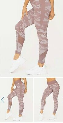 Ryderwear Camo High Waisted Seamless Leggings - Dusty Pink - XS - BNWT