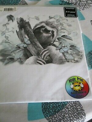 Childrens Unisex  Wildtex Magic Sloth  Style  T Shirt Age 3-4  BNIB
