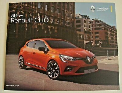 Renault Clio Play Iconic S R.S. Line RS Brochure Catalogue October 2019 + Prices