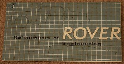 Rare Rover Refinements Of Engineering Booklet Rover Company P4 P5