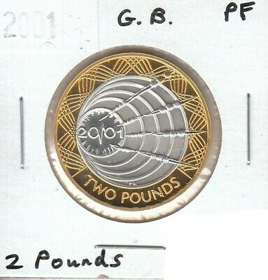 Great Britain 2 Pounds 2001 Proof Strike - Uncirculated