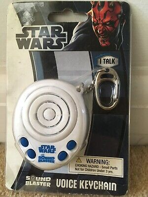 Star Wars Sound Blaster Voice Keychain with 4 Original Movie Sounds ~ NIP