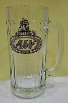 A & W Root Beer 2000 Millennium Edition Papa Bear Glass Mug HEAVY RARE