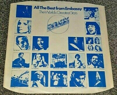 "Vintage Embassy  INNER SLEEVE 12"" CBS Advertising"