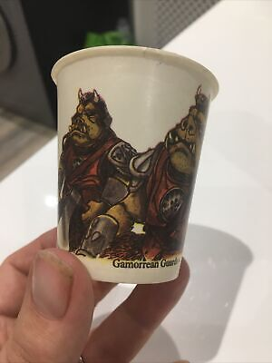 1983 STAR WARS DIXIE CUP Gamorrean Guard Squid Head Jedi  -  Unused