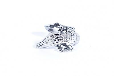 Vintage Silver Gothic Alligator Lizard Stainless Steel Size 10.5 Ring