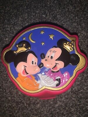 Vintage disney polly pocket mickey and minnie mouse playset / playcase bluebird