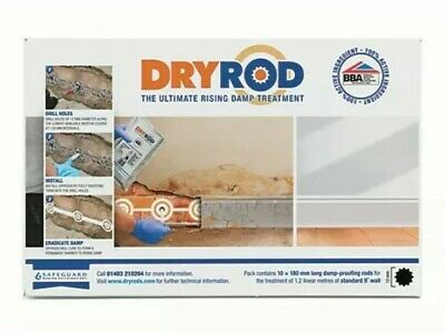 Dryrod Damp Proofing Rods Box of 10 Next Generation Rising Damp Treatment BBA!!