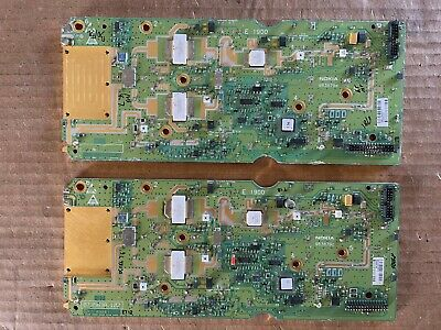 Lot of 2 scrap vintage Nokia 983879 boards for gold precious metal recovery.