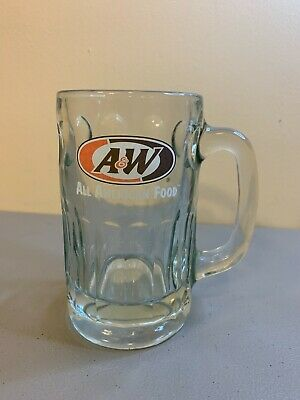 "A&W All American Food Root Beer Glass Mug Heavy 6"" Tall"