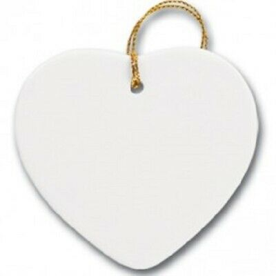 """3"""" Heart Shaped Sublimation Blank, Double Sided Ornament - 12 Pc"""