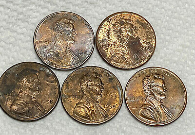 Lot Of  (3) 1998 Wide AM & (2) 2000 Wide AM Pennies  Feel Free To Make An Offer