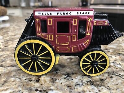 Wells Fargo Stage Cast Iron Bank collectibles banks promotional