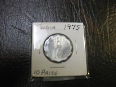 1975 India Republic 10 Paise  Km# 27.1 Fao - Womens Day Unc Coin