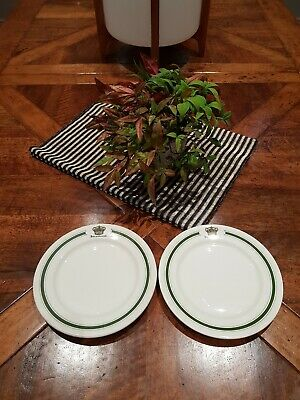"HOTEL del CORONADO set of two 8 1/4"" STARTER DINNER PLATES"