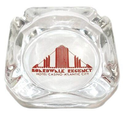 Vintage Boardwalk Regency Hotel Casino Advertising Glass Ashtray - Atlantic City